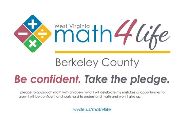 math4life pledge: be confident. I pledge to approach math with an open mind.
