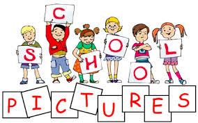 Children holding signs that say picture day graphic