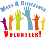 hands raised - make a difference volunteer