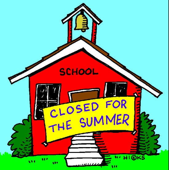 school house sign says closed for summer