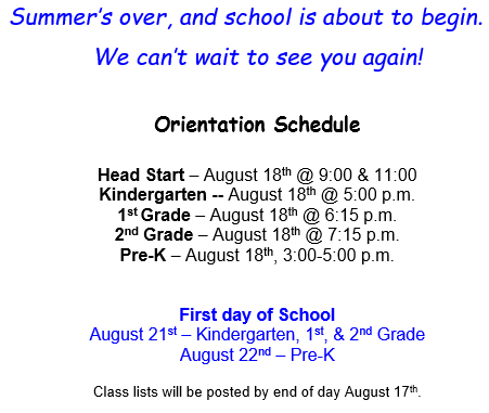 August 2017 Orientation Times