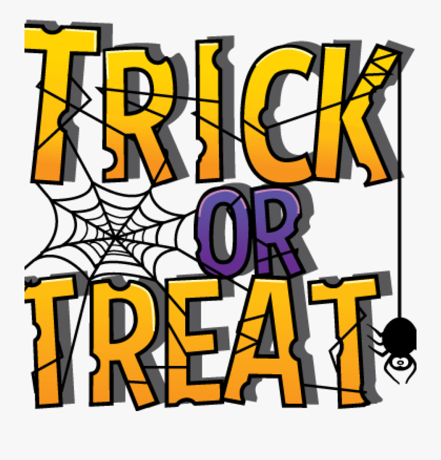 Trick or Treat with a spider and cobweb