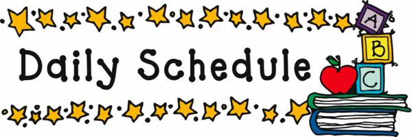 Daily Schedule with star border