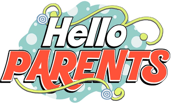 Picture says Hello parents in fancy writing