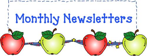 newsletter text with apple decoration.
