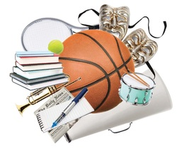 various sports equipment and musical instruments