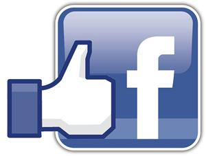 Facebook thumbs up logo.
