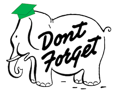 Elephant with Cap- Don't Forget