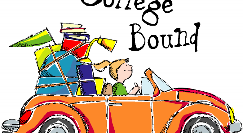 College bound student in vehicle