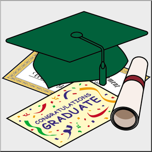 Graduation cap and announcements