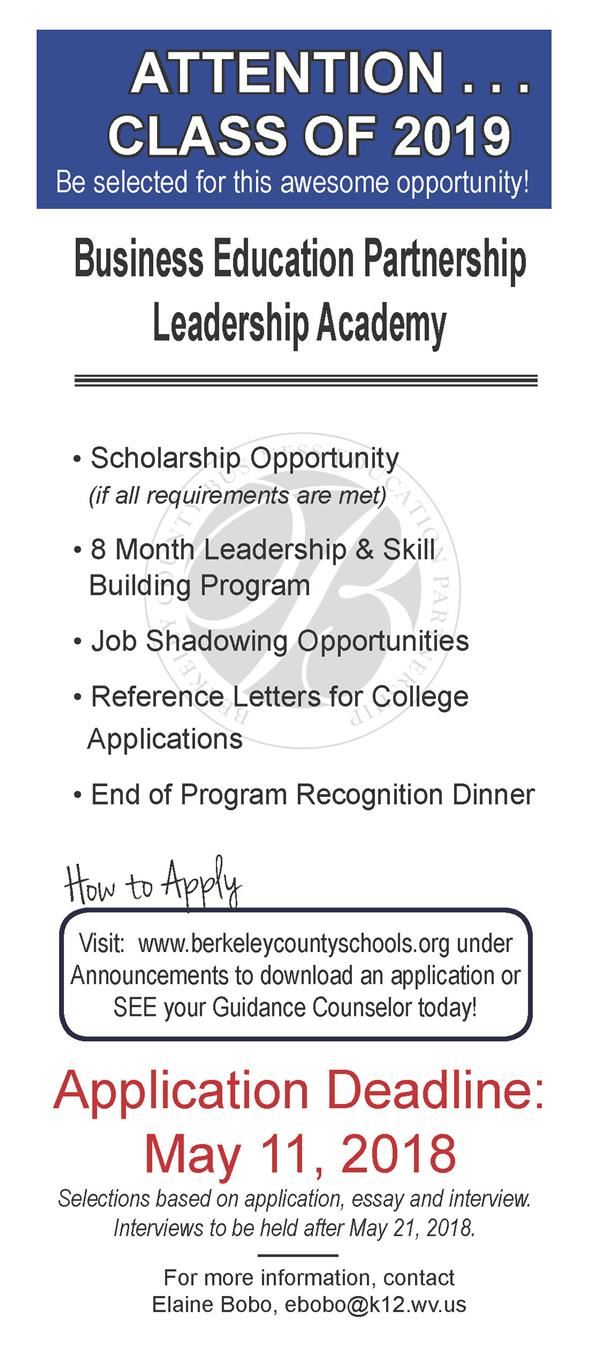 Leadership program flyer