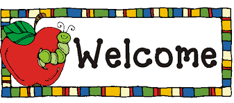 welcome sign with worm in apple