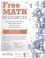 Free Math Resources flyer