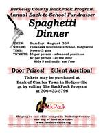 spaghetti fundraiser august 26, 12- 3p.m. Tomahawk Intermediate school
