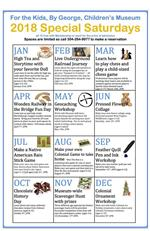 Special Saturday Calendar For the Kids Museum