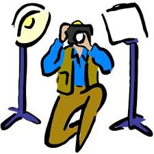 Cartoon picture of photographer