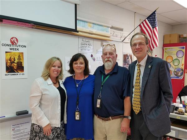 Dr. Murphy meets with staff