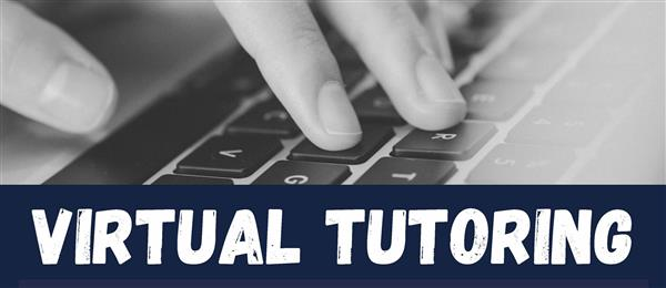 Virtual Tutoring with hand placed on keyboard
