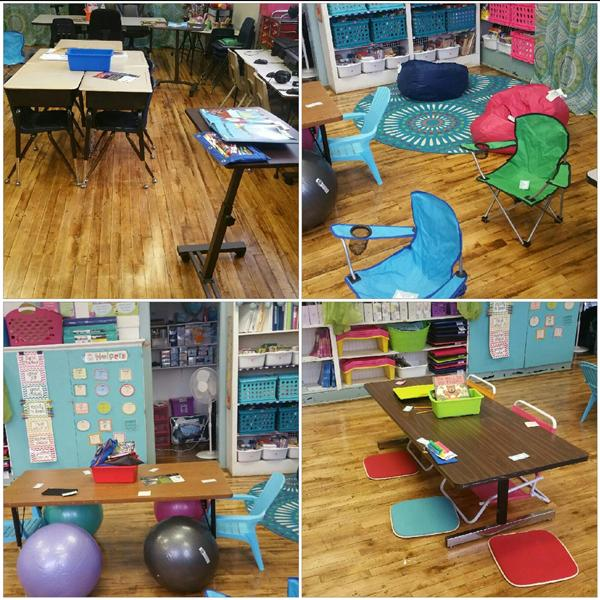 Flexible Seating in Miss Sandford's Room